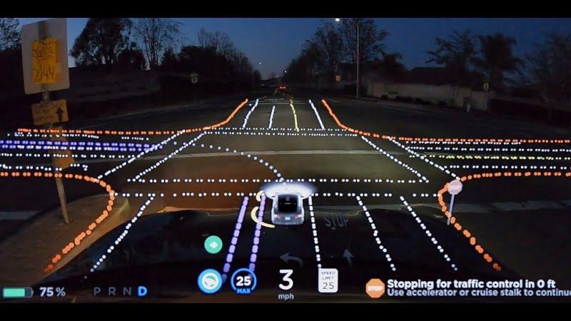 Tesla : une vidéo montre ce que voit le logiciel Full Self-Driving lorsque la voiture conduit toute seule