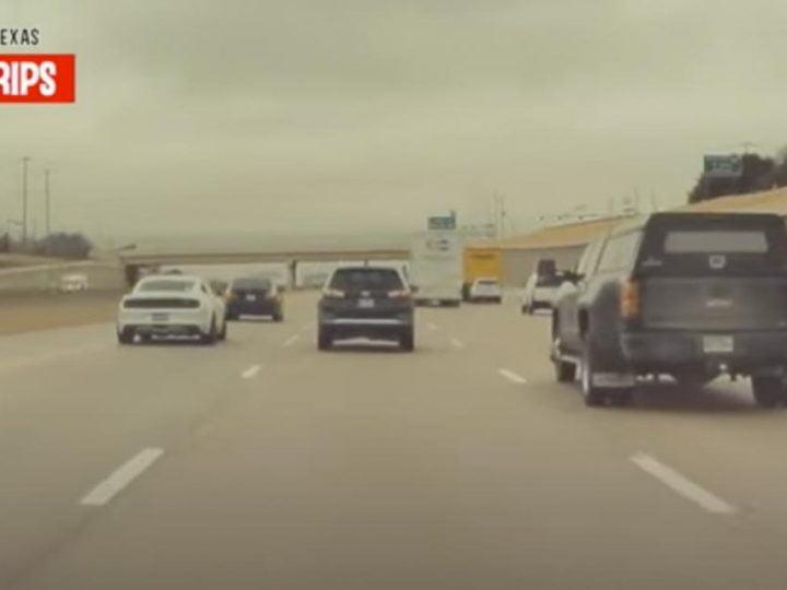 VIDEO – Cette Ford Mustang part en vrille sur l'autoroute et s'en sort miraculeusement bien
