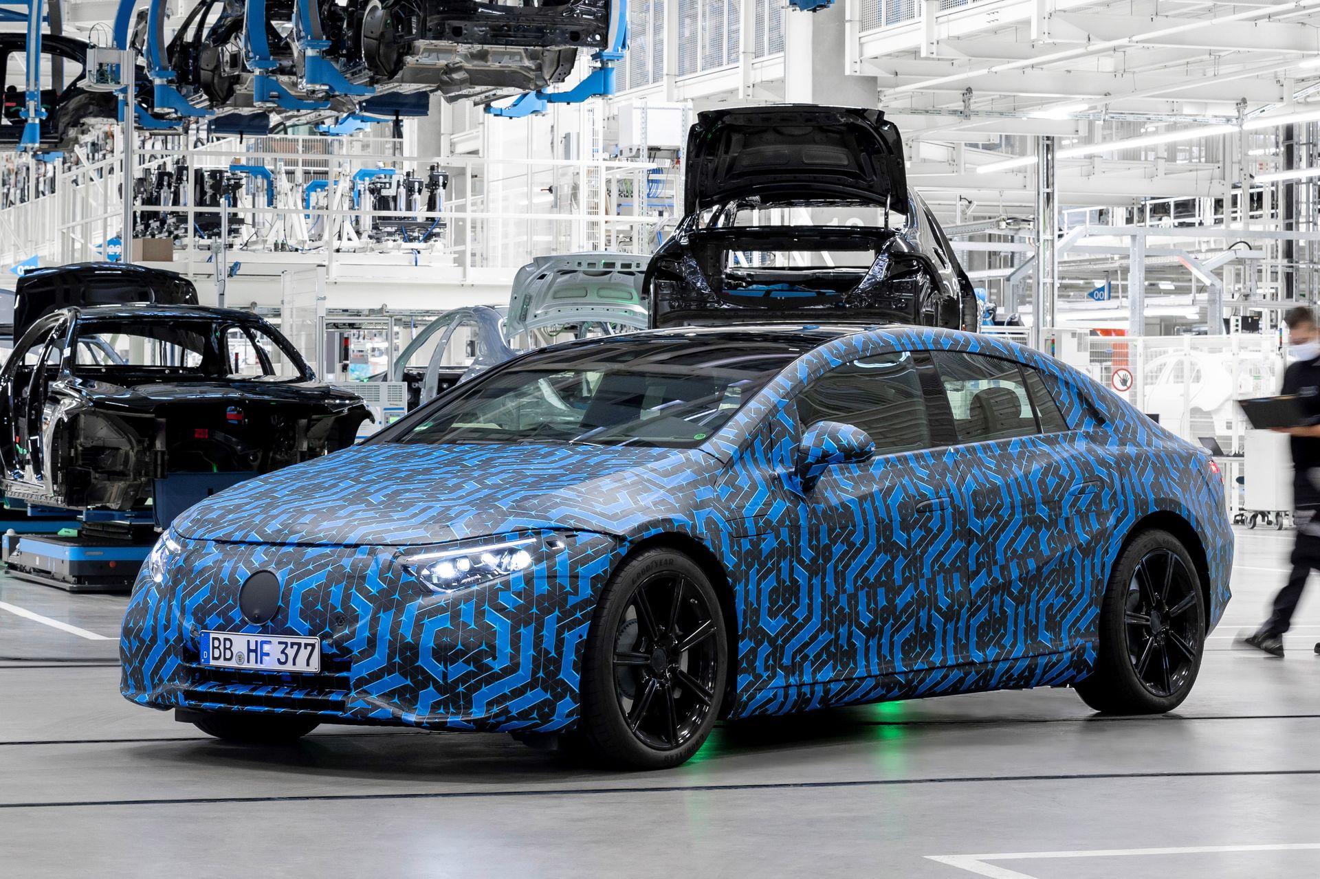 Mercedes EQS : deux choix de batteries pour la berline électrique