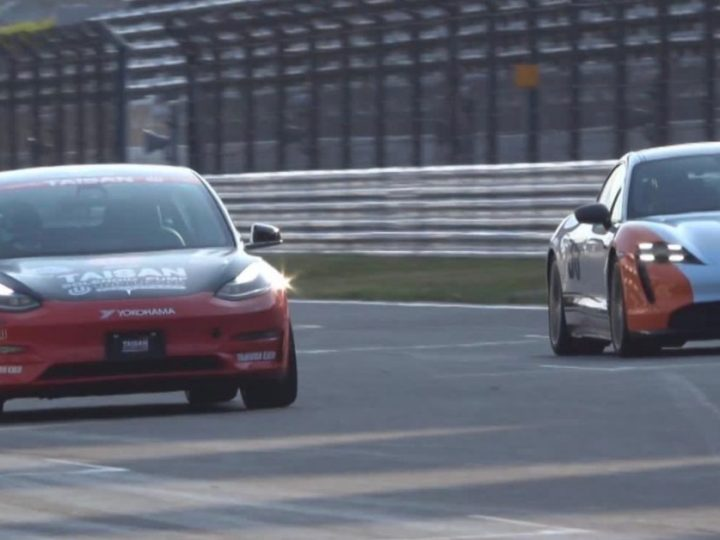 La Tesla Model 3 modifiée par UP remporte la course contre la Porsche Taycan Turbo S – Electrek