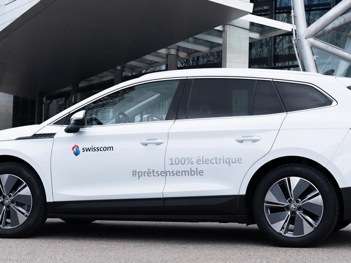 Swisscom achète 100 exemplaires de la Škoda Enyaq