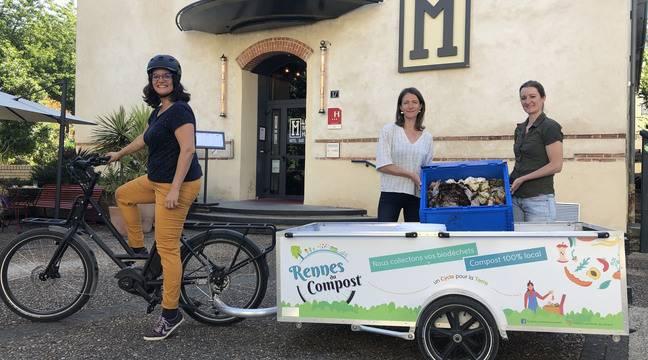 Rennes : A vélo, elles font le tour des popotes pour collecter les déchets alimentaires