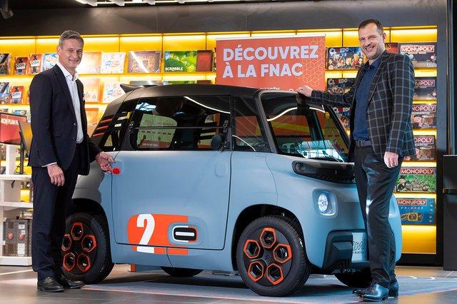 Citroën et la Fnac partenaires pour la commercialisation de l'AMI en Belgique