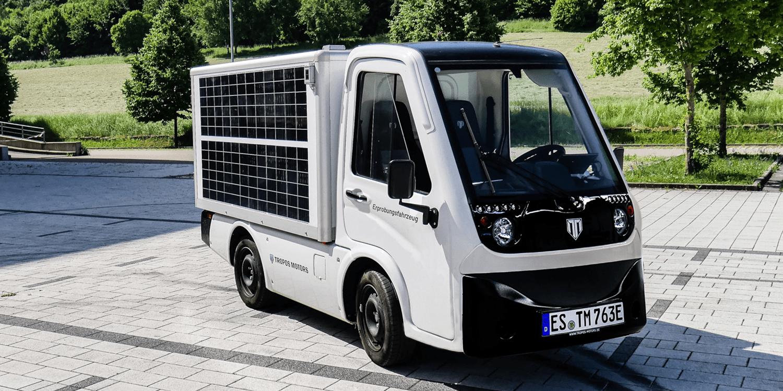 Tropos teste le photovoltaïque intégré dans les superstructures des véhicules utilitaires – electrive.com