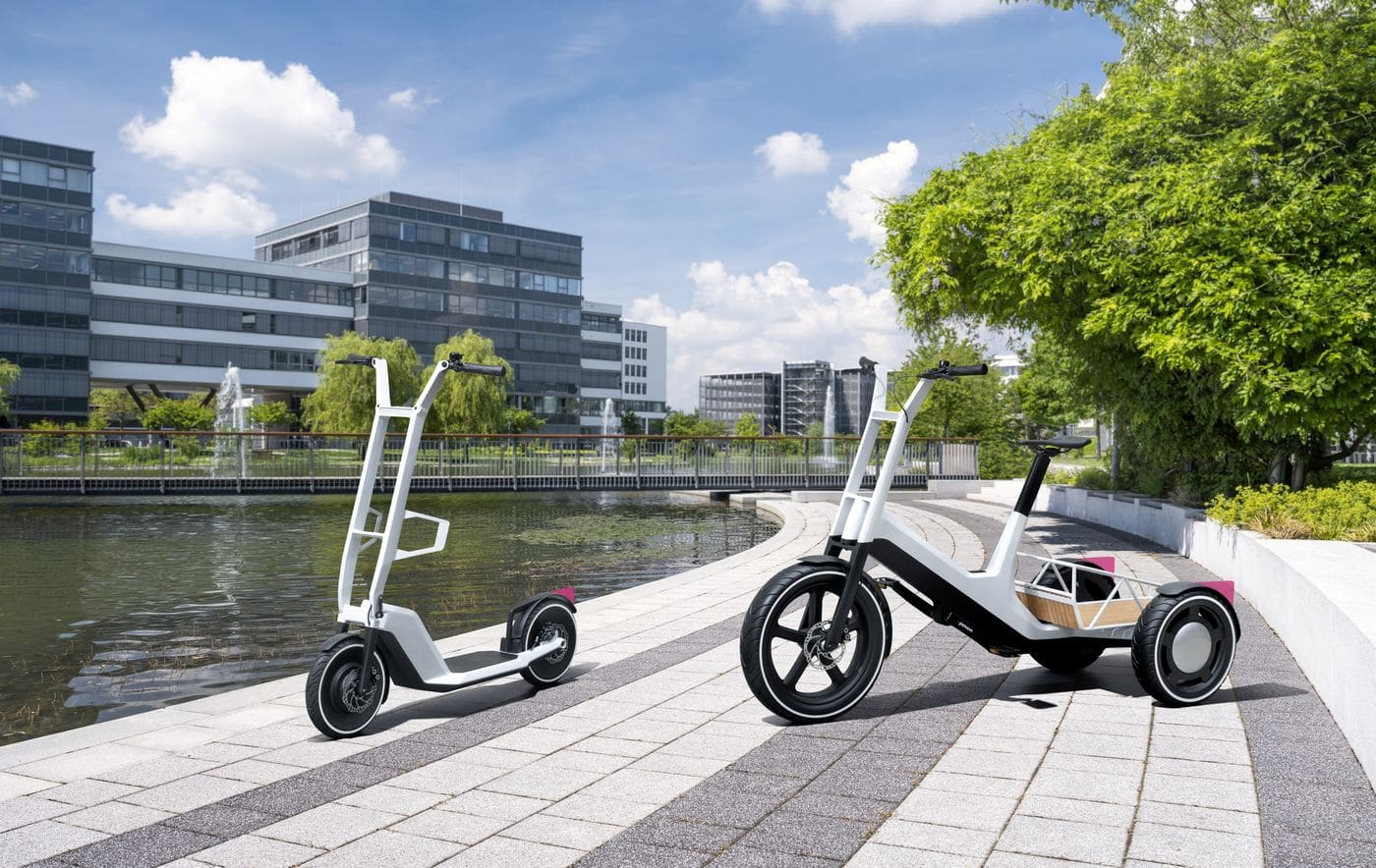 Vélo cargo et trottinette : BMW révèle deux concepts électriques inédits