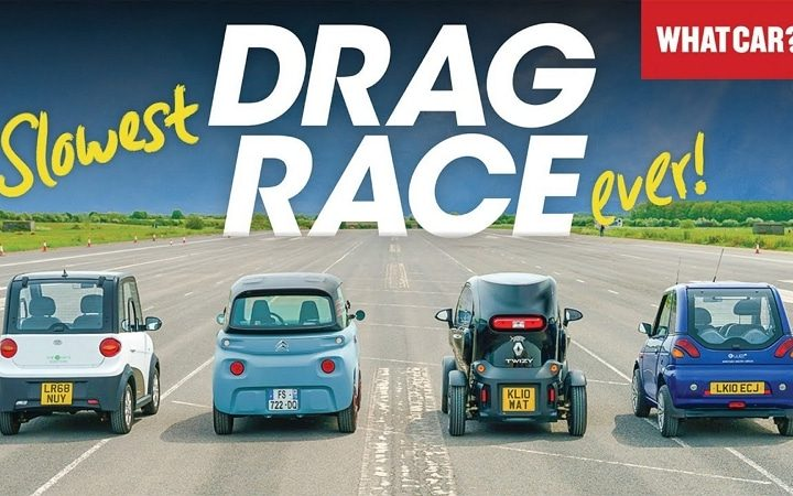 Mini-voitures électriques : la course de dragsters la plus lente de tous les temps !