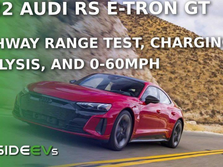 Regardez: Test de gamme Audi RS E-Tron GT, temps de charge et 0-60 MPH