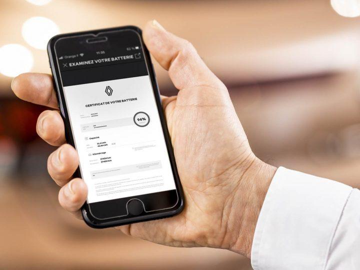 Certificat d'électricité : Renault lance et certificat de batterie pour faciliter la vente