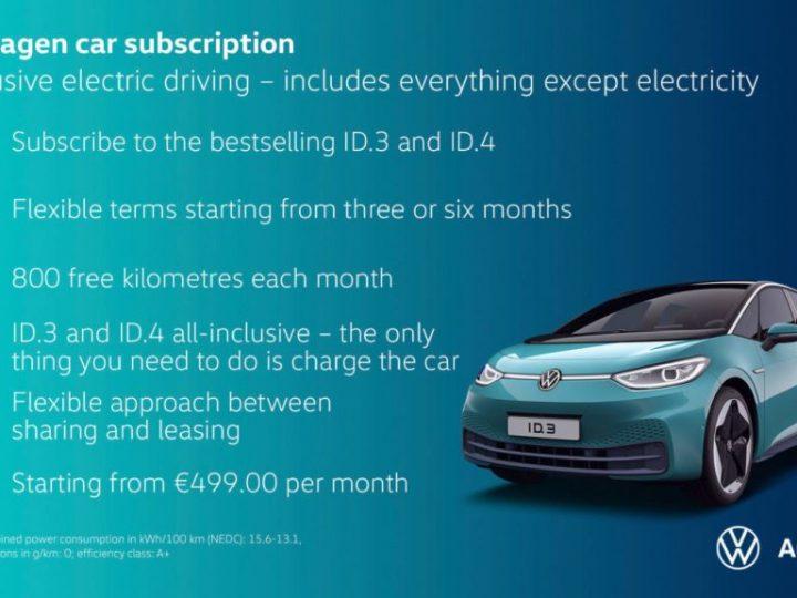 Volkswagen accélère le rythme de son modèle économique 2.0 et propose des abonnements automobiles
