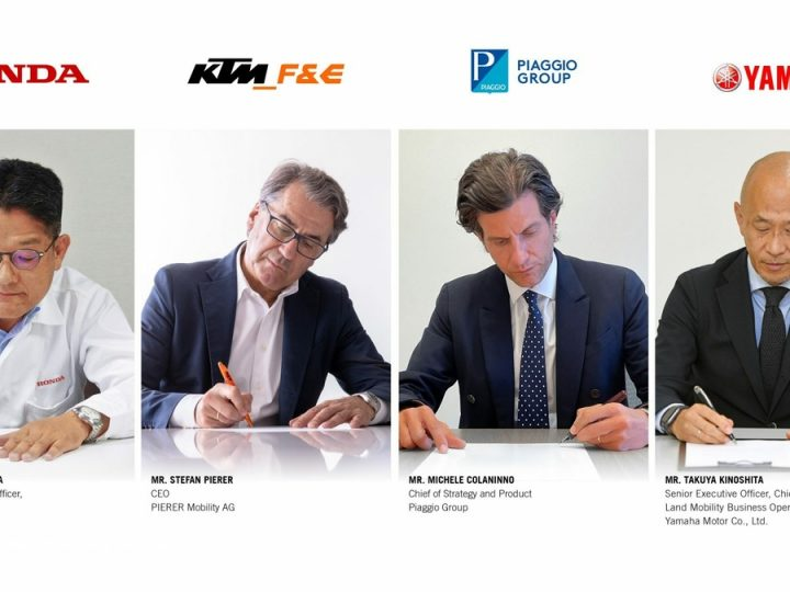 Coup de boost sur l'électrique : Piaggio, Honda, KTM et Yamaha s'associent !.
