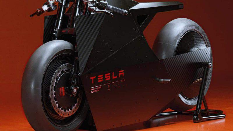 Ce designer imagine une incroyable moto électrique Tesla
